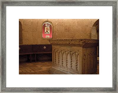 Ritual Altar At Templar Church Framed Print by Lorraine Devon Wilke
