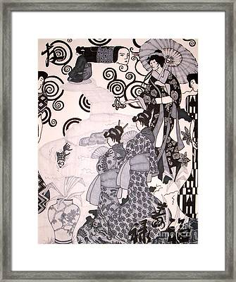 Ritual Framed Print by Kryztina Spence