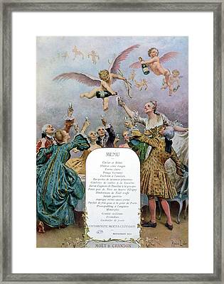 Ritz Restaurant Menu Framed Print