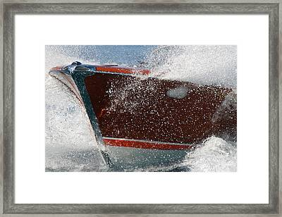 Amazing Riva Runabout Framed Print