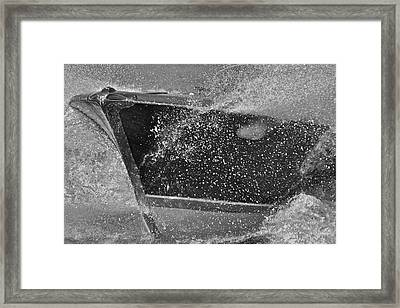 Riva Aquarama Spray Framed Print