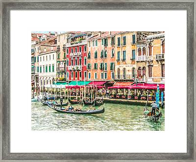 Riva Del Vin Framed Print by Liz Leyden