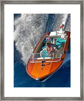 Riva Runabout Lake Tahoe Framed Print