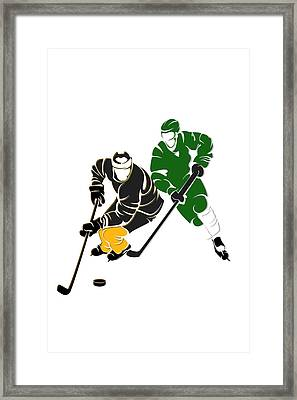 Rivalries Bruins And Whalers Framed Print