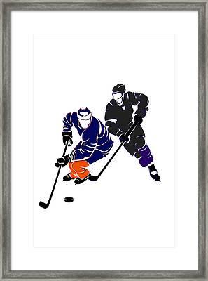 Rivalries Oilers And Kings Framed Print by Joe Hamilton
