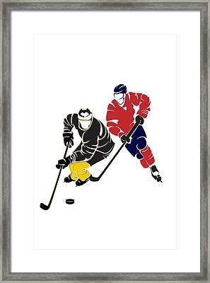 Rivalries Penguins And Capitals Framed Print by Joe Hamilton