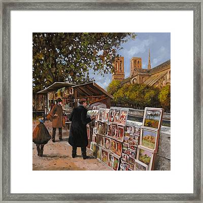 Rive Gouche Framed Print by Guido Borelli
