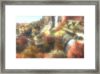 Rivendell Framed Print by Cynthia Decker