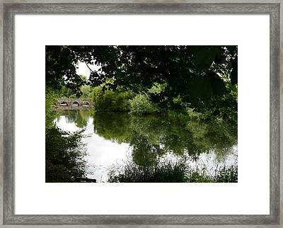 River And Bridge Framed Print