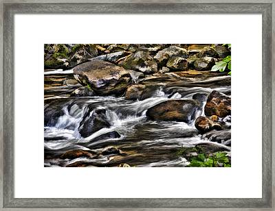River And Rocks Framed Print