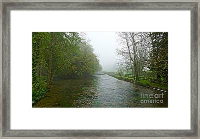 River Anton Framed Print by Andrew Middleton