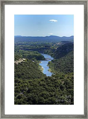 River Ardeche. France Framed Print