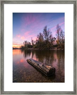 River At Dawn Framed Print by Davorin Mance