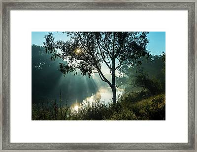 River At Sunset  South Africa Framed Print by Remsberg Inc