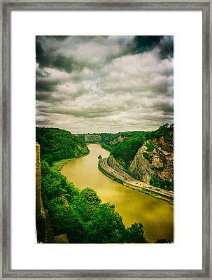 River Avon Curvature As Seen From Clifton Suspension Bridge Framed Print