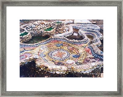 River Bank In The Yard Framed Print by Nikolay Ilchevski