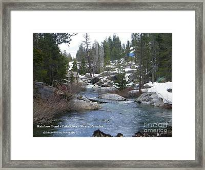 Framed Print featuring the photograph River Bend  by Bobbee Rickard