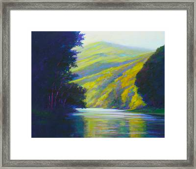 River Bend Framed Print by Ed Chesnovitch