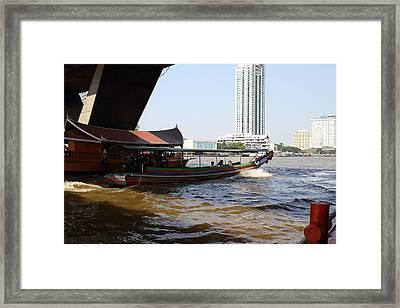 River Boat Taxi - Bangkok Thailand - 01135 Framed Print