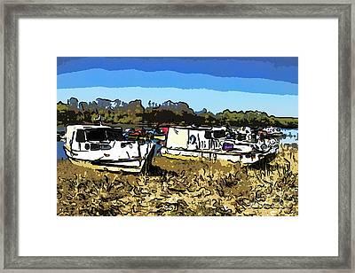 River Boats Framed Print
