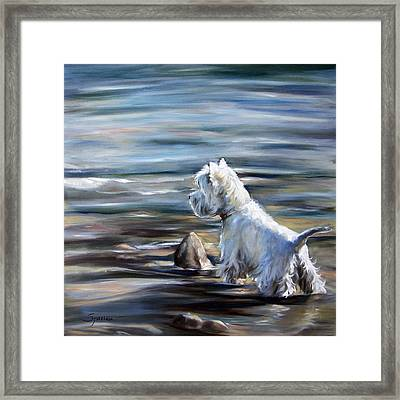 River Boy Framed Print by Mary Sparrow