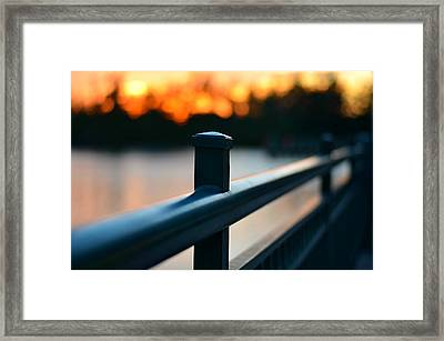 River Bridge Framed Print by Laura Fasulo