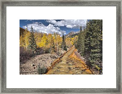 River By Iron Town Colorado Framed Print