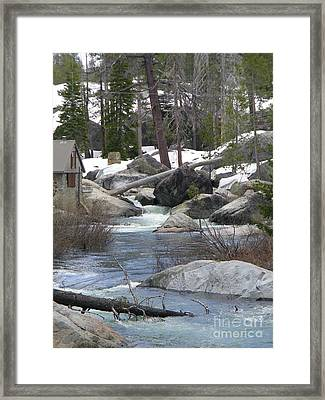 River Cabin Framed Print
