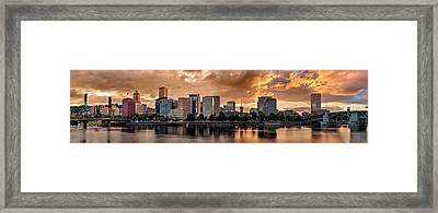 River City Framed Print