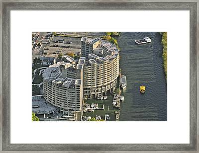 River City Chicago - A City Within A City Framed Print by Christine Till