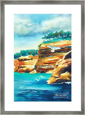 River Cliffs 2 Framed Print by Kathy Braud