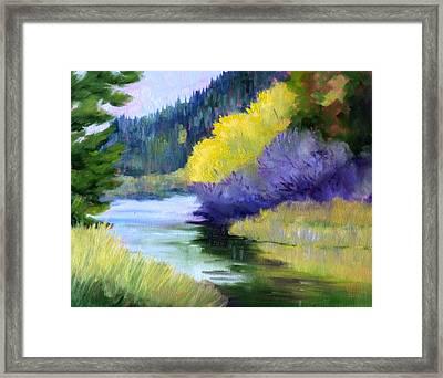River Color Framed Print by Nancy Merkle