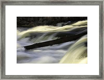 River Contours Framed Print