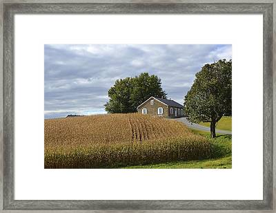 River Corner Mennonite Church Framed Print