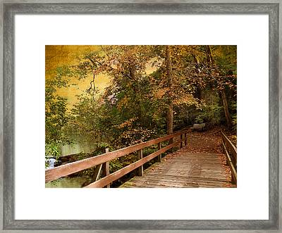 River Crossing Framed Print by Jessica Jenney
