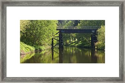 River Crossing Framed Print by Mike Reid
