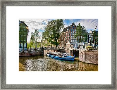 Framed Print featuring the photograph River Cruise by Brent Durken