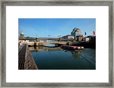 River Cruiser Going Therough The Butt Framed Print by Panoramic Images