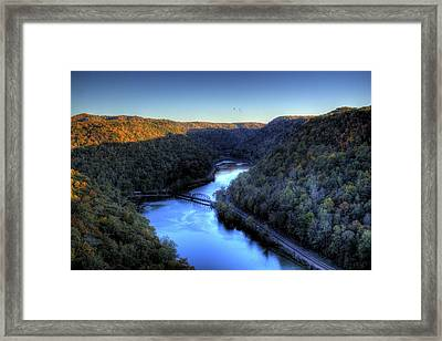 Framed Print featuring the photograph River Cut Through The Valley by Jonny D