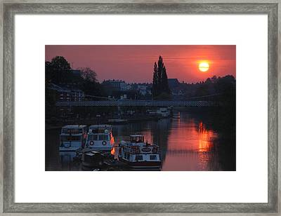 River Dee Sunrise Framed Print by Jeff Dalton