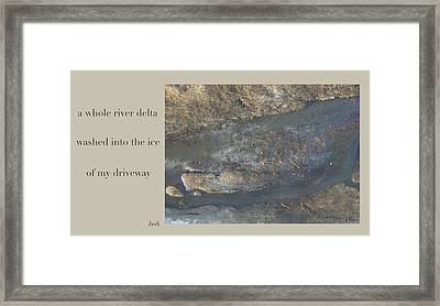 River Delta Haiga Framed Print