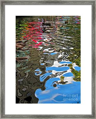 River Ducks Framed Print by Pamela Clements