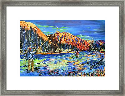 River Fisherman Framed Print
