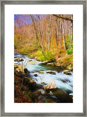River Flow Series 02 Framed Print by Carlos Diaz
