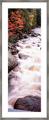 River Flowing Through A Forest, Ausable Framed Print
