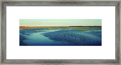 River Flowing Through A Landscape, St Framed Print by Panoramic Images