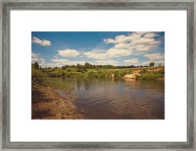 River Flows Framed Print by Jenny Rainbow