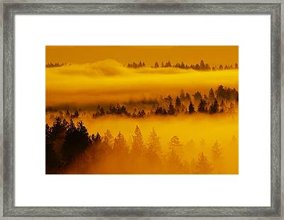 Framed Print featuring the photograph River Fog Rising by Ben Upham III