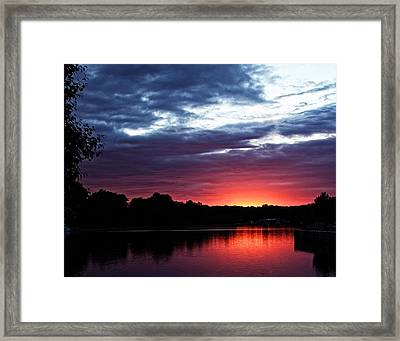 Framed Print featuring the photograph River Glow by Dave Files