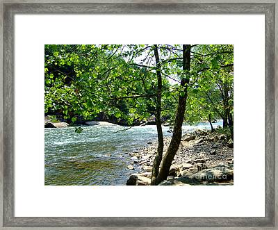 River Gorge Framed Print by Deborah DeLaBarre